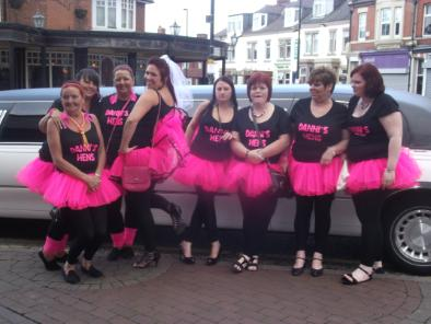 Hen night party ideas, Bliss Limousine Hire Middlesbrough 1st 4 wedding car hire
