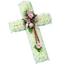Crosses and funeral graveside tributes by Allium Florists Middlesbrough Cleveland