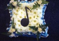 Music funeral floral tribute by Allium Florists Middlesbrough