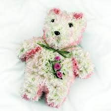 Teddy bear funeral tribute by Allium Florists Middlesbrough