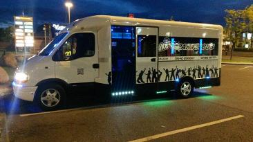wedding car hire in Middlesbrough, party bus hire Middlesbrough, party bus hire North East